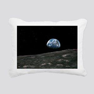 Earthrise photograph, ar Rectangular Canvas Pillow