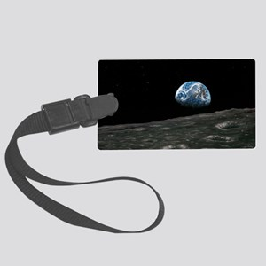 Earthrise photograph, artwork Large Luggage Tag