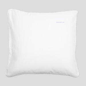 Plain White T Square Canvas Pillow