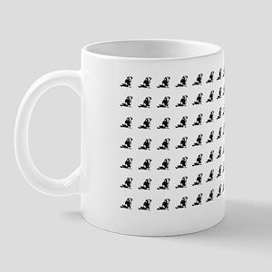 Dachshund horizontal tiled Mug