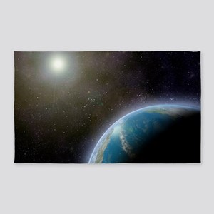 Earth from space, artwork 3'x5' Area Rug