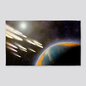 Earth's cometary bombardment, artwo 3'x5' Area Rug