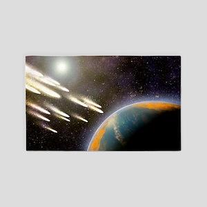 Earth's cometary bombardment, artwo 3'x5' Area Rug