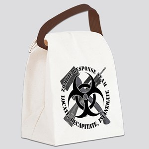 Zombie Response Team White Border Canvas Lunch Bag