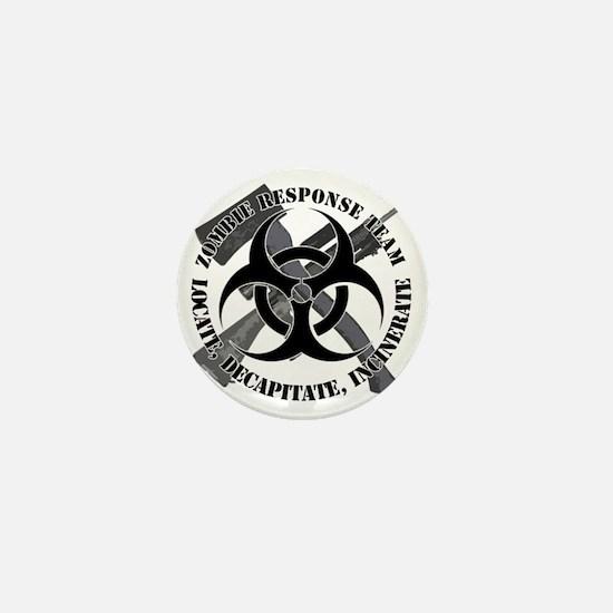 Zombie Response Team White Border Mini Button