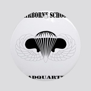 DUI - Airborne School - Headquarter Round Ornament
