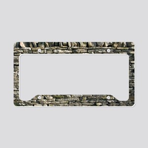 Dry stone wall, Dorset License Plate Holder