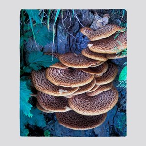 Dryad's saddle fungi Throw Blanket