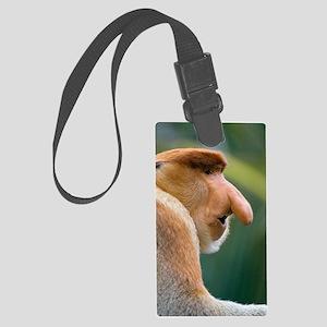Dominant male proboscis monkey Large Luggage Tag