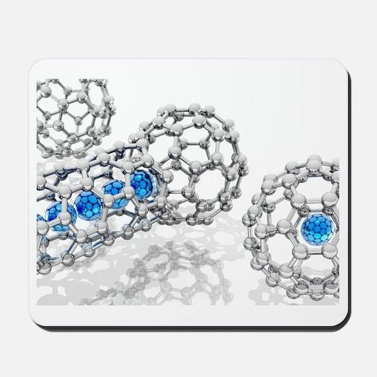 Doping buckyball molecules, artwork Mousepad