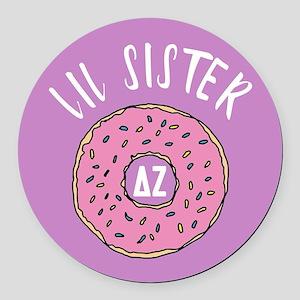 Delta Zeta Lil Donut Round Car Magnet