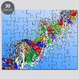 DNA damage, computer artwork Puzzle
