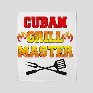 Cuban Grill Master Apron Throw Blanket