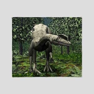 Dilophosaurus, artwork Throw Blanket