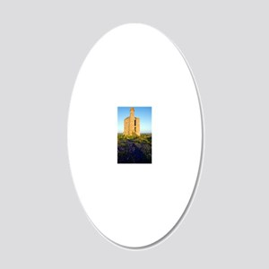 Disused mine engine house, C 20x12 Oval Wall Decal
