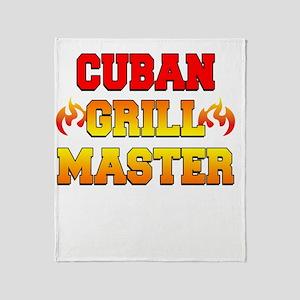 Cuban Grill Master Dark Apron Throw Blanket