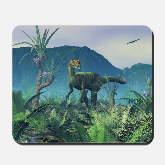 Dilophosaurus, artwork Mousepad
