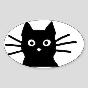 Black Cat Hitch Cover Sticker (Oval)