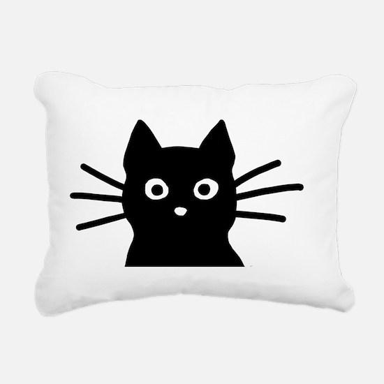 Black Cat Hitch Cover Rectangular Canvas Pillow