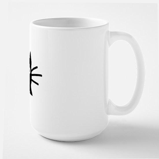 Black Cat Hitch Cover Large Mug