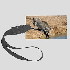 Desert warthog Large Luggage Tag