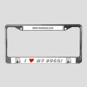 Dogg Collar License Plate Frame