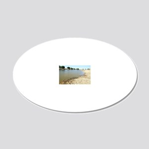 Desert oasis, India 20x12 Oval Wall Decal