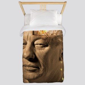 Deep brain stimulation, artwork Twin Duvet