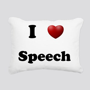 Speech Rectangular Canvas Pillow