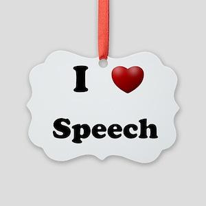 Speech Picture Ornament