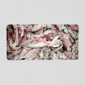 Dead cuttlefish Aluminum License Plate