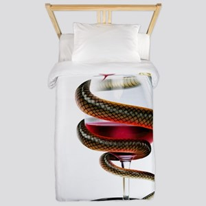 Dangers of alcoholism, conceptual image Twin Duvet