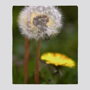 Dandelions (Taraxacum officinale) Throw Blanket