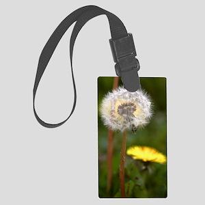 Dandelions (Taraxacum officinale Large Luggage Tag