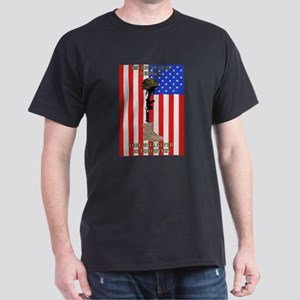 AMERICA'S REAL HEROES, NEVER  Dark T-Shirt