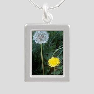 Dandelion (Taraxacum off Silver Portrait Necklace