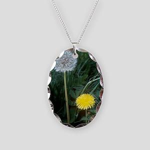 Dandelion (Taraxacum officinal Necklace Oval Charm
