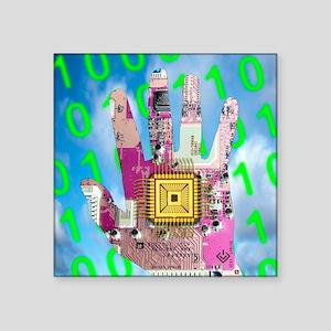 "Cybernetics and robotics Square Sticker 3"" x 3"""
