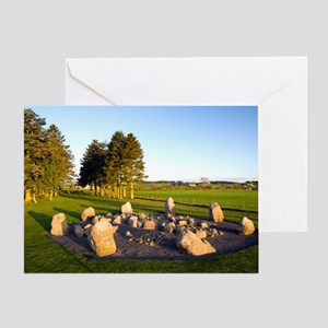 Cullerlie stone circle Greeting Card