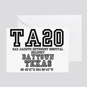 TEXAS - AIRPORT CODES - TA20 - SAN J Greeting Card