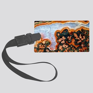 Cut and polished agate Large Luggage Tag
