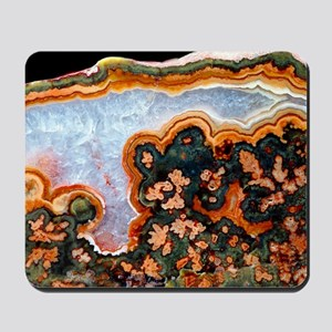 Cut and polished agate Mousepad