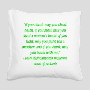 SOI Motto Square Canvas Pillow