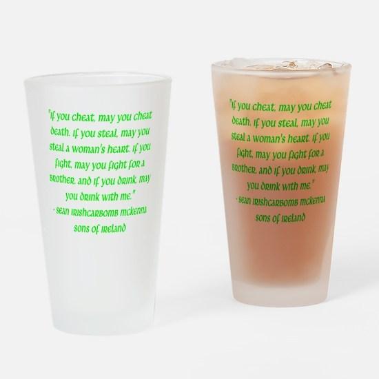 SOI Motto Drinking Glass