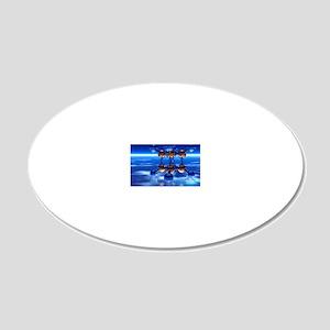 Cubane molecule 20x12 Oval Wall Decal
