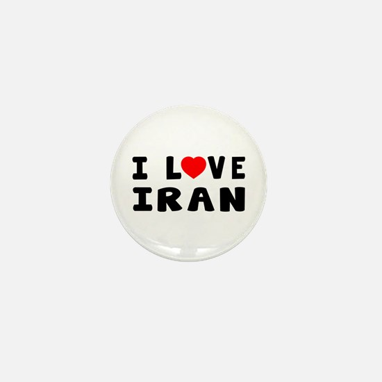 I Love Iran Mini Button