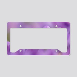 Crocus tommasinianus flowers License Plate Holder