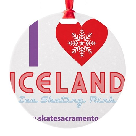 I LOVE ICELAND tote Round Ornament