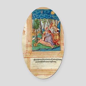 Creation of Eve, artwork Oval Car Magnet