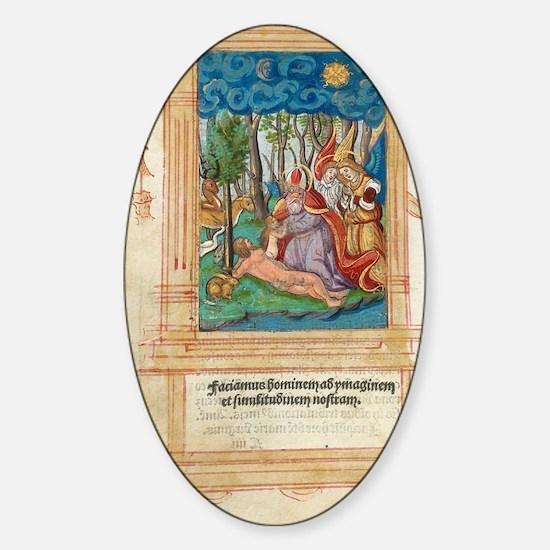 Creation of Eve, artwork Sticker (Oval)
